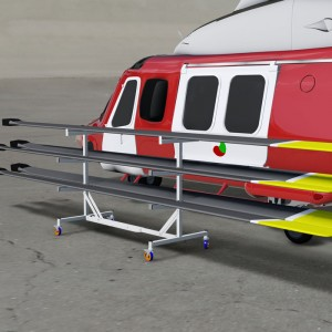 The Smart Helicopter Blade Rack