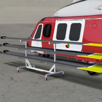 Helicopter Blade Rack